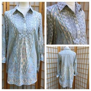 Soft Surroundings Print Tunic/Dress SZ S